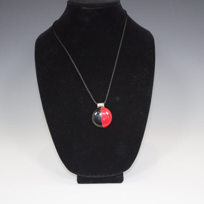 Half Black Half Red Pendant