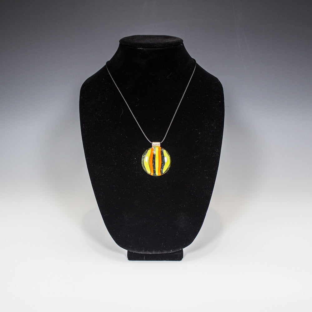 Lemon and Orange Striped Pendant