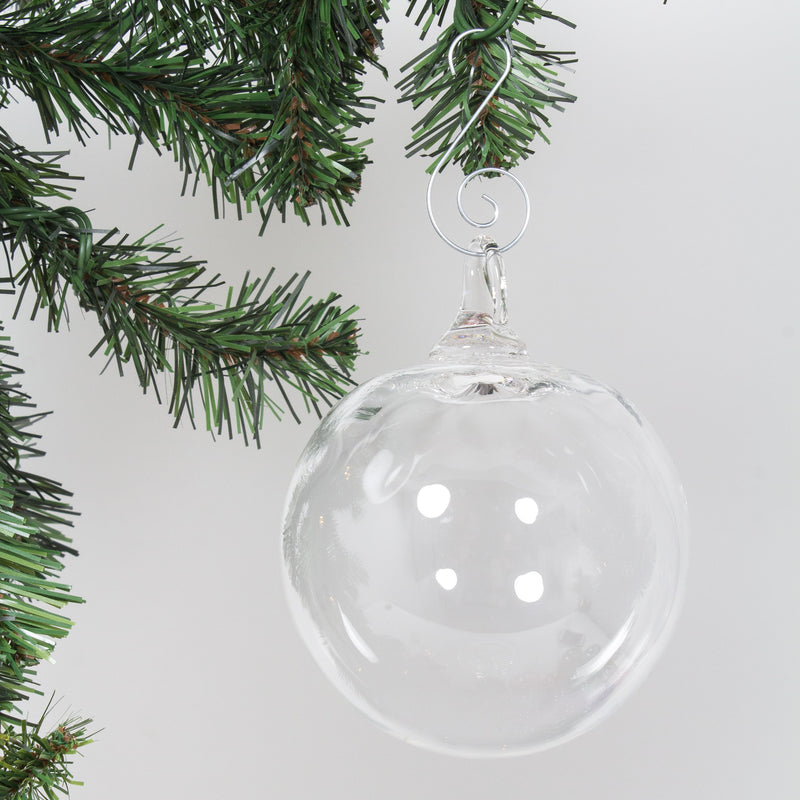 Grinch Glass Ornament