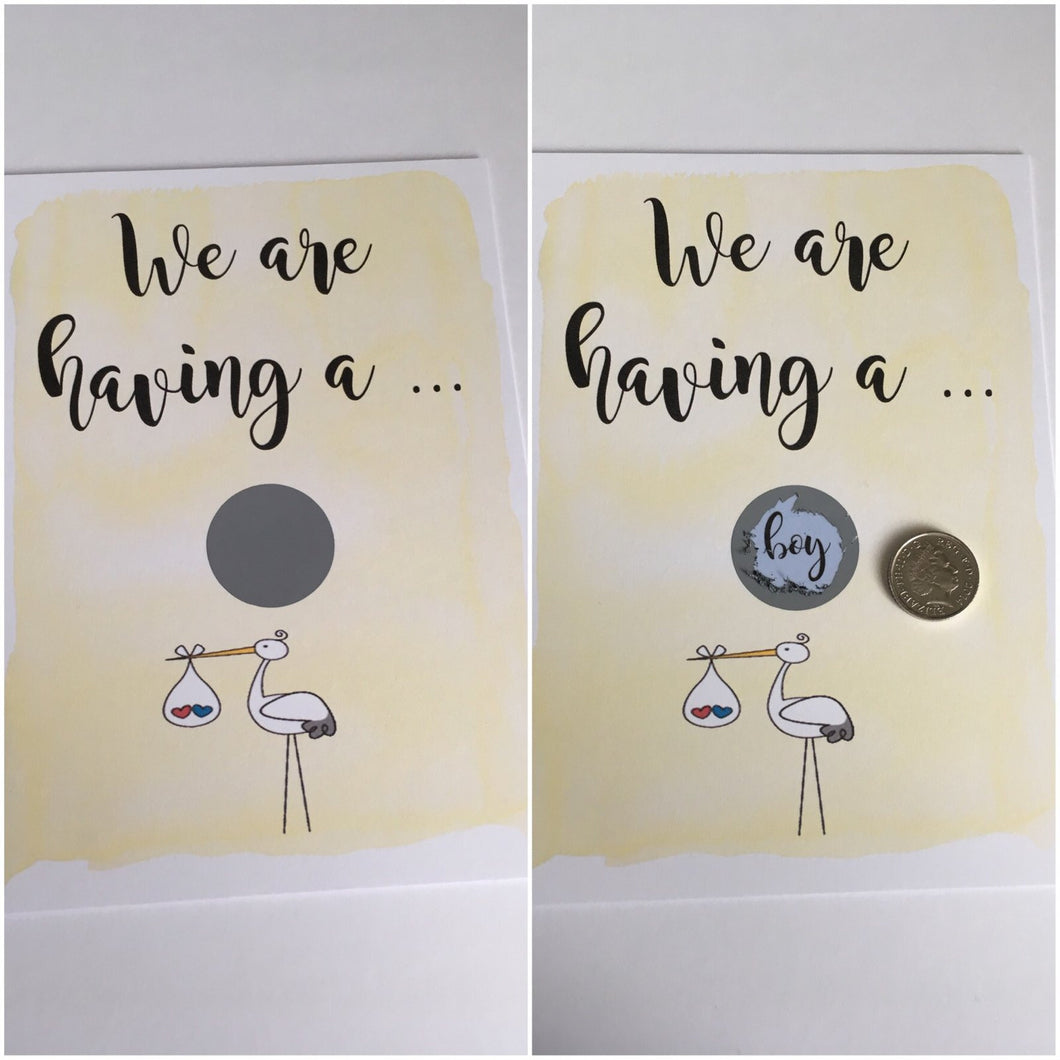 Scratch card - we are having a girl/boy