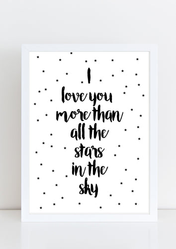 I/We love you more than all the stars in the sky