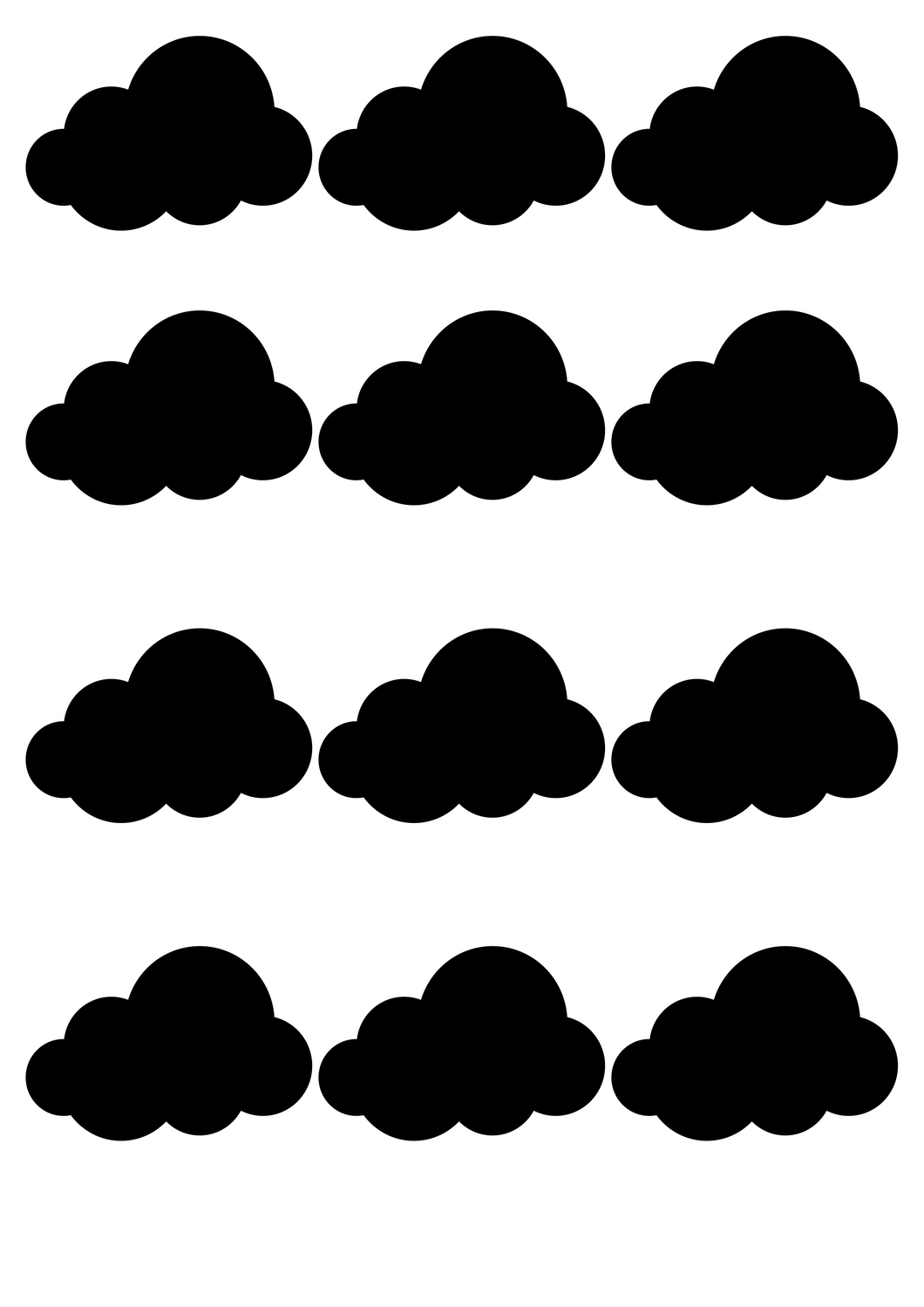 wall stickers - clouds