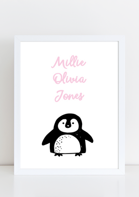 Cutie Pie - Penguin with name