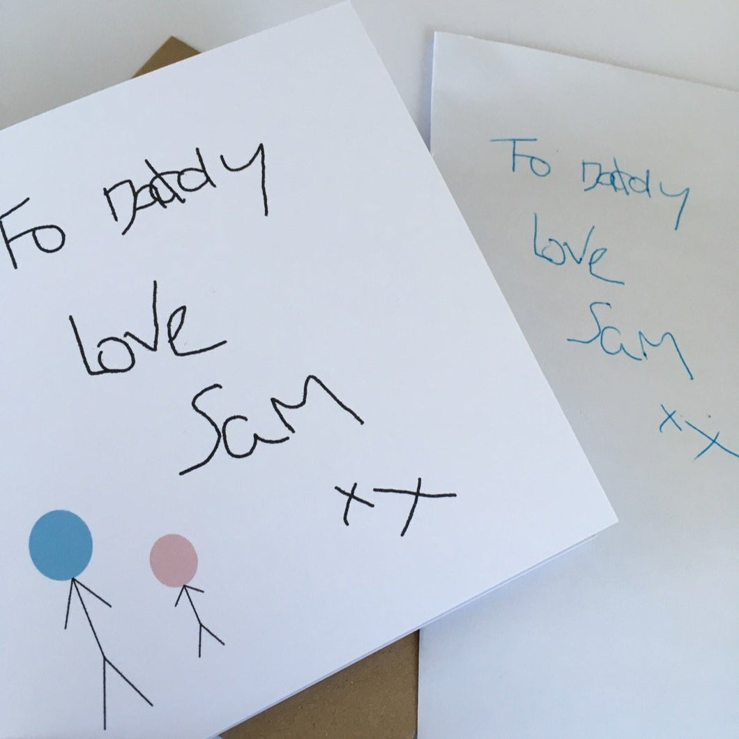 Fathers Day card with your child's handwritting or picture