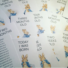 Peter Rabbit milestone cards