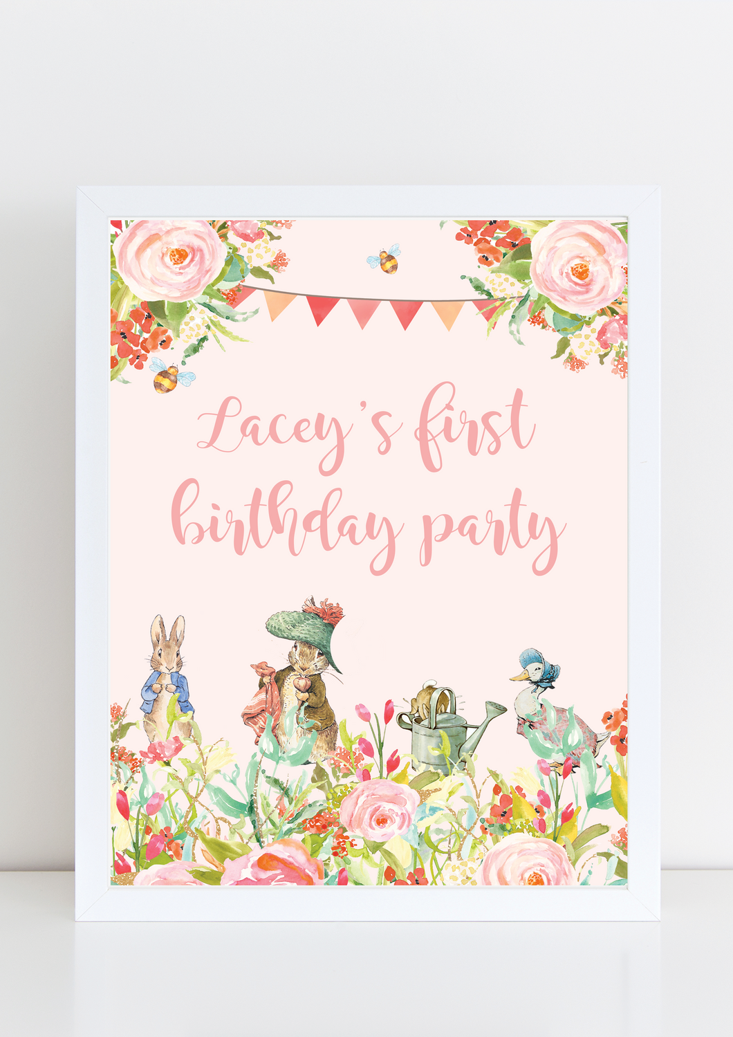 Beatrix Potter birthday print