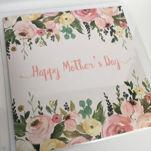 Mother's Day card - floral design