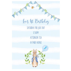 Peter Rabbit Birthday Invitations Lovely Little Prints