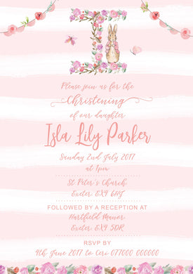 Pink initial invitation