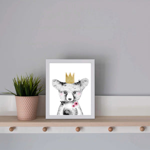 Bear with crown print