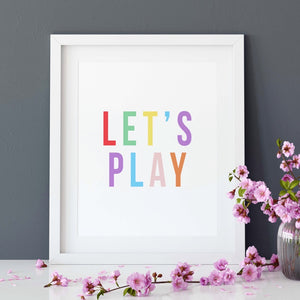 Colourful let's play print