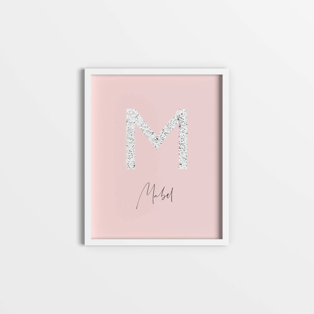 Paint splattered initial print
