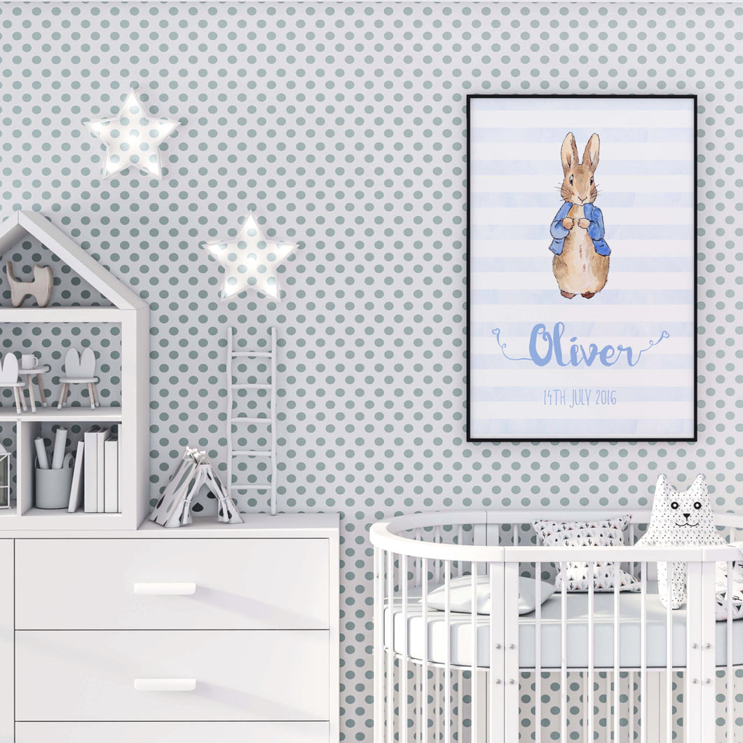 Peter rabbit name print