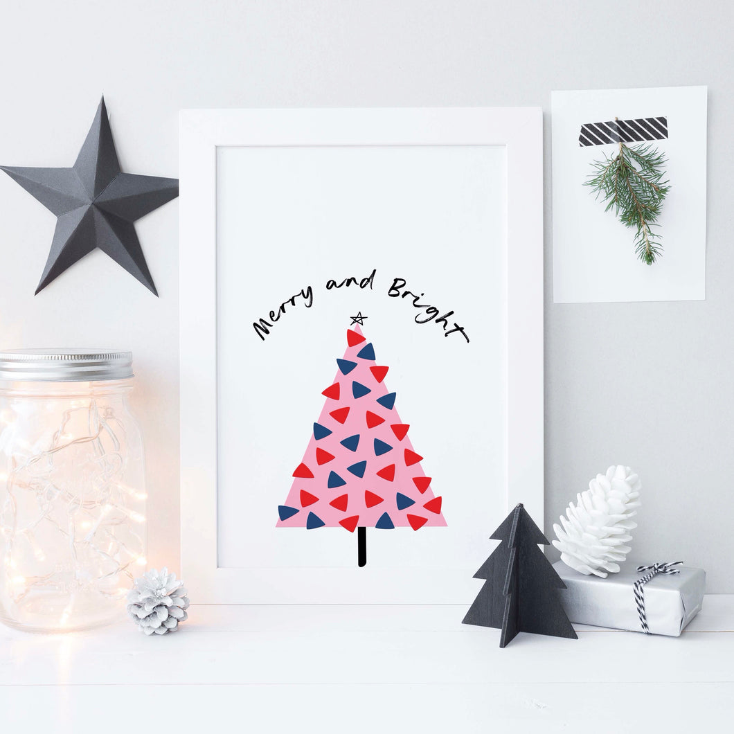 Merry and Bright Christmas print