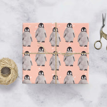 Baby penguin gift wrap
