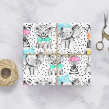 Animals gift wrap