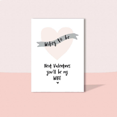 Wifey to be card