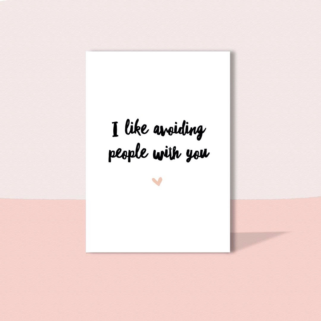 Avoiding people with you card