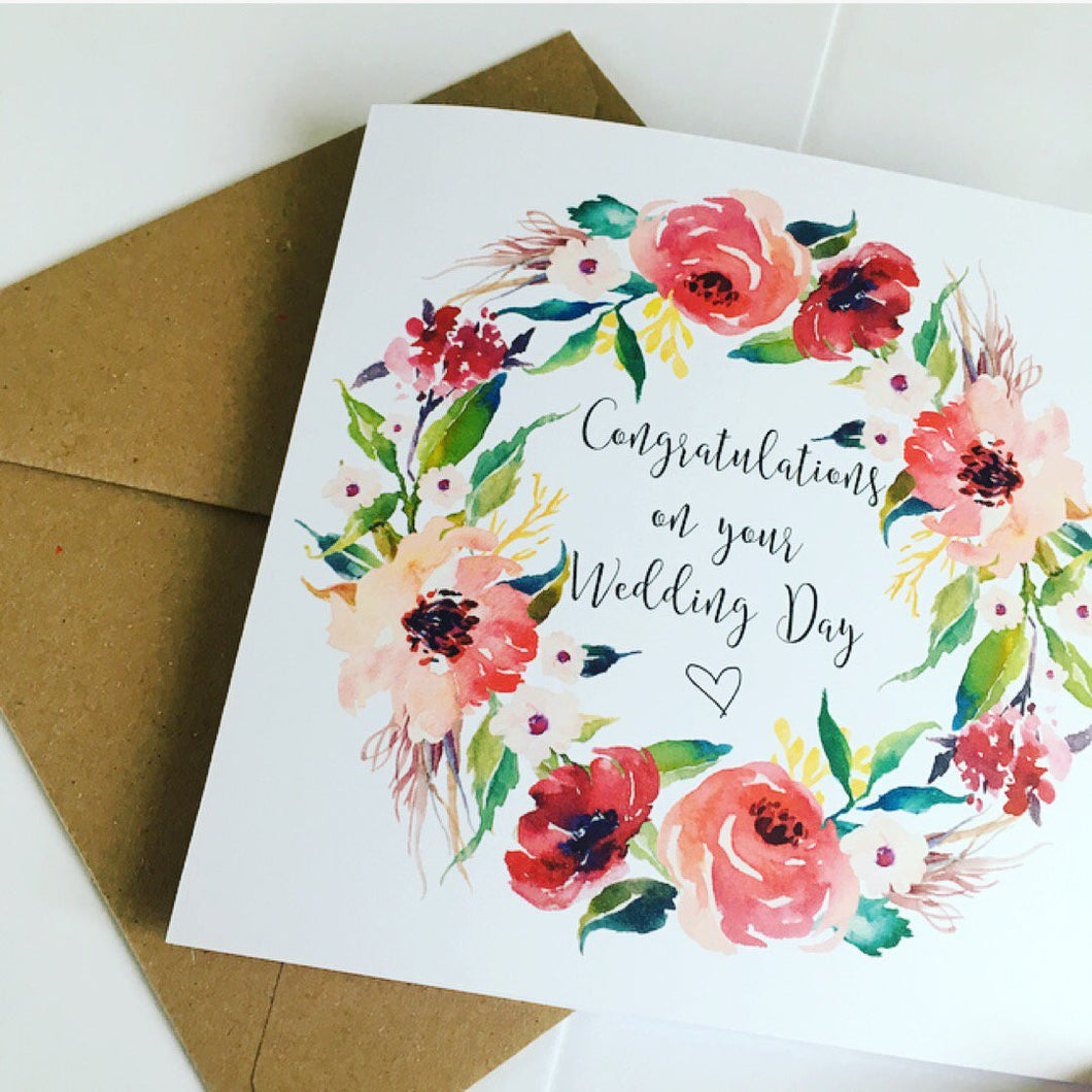 Floral Wedding cards