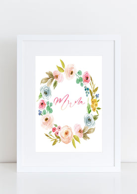 Mothers day floral wreath - Mum