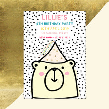 Bear Children's Birthday Invitations