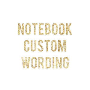 Notebook - any wording