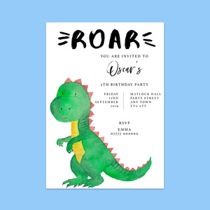 Dinosaur Children's Birthday Invitations