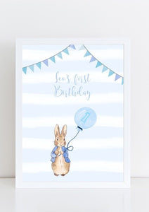 Peter Rabbit birthday print