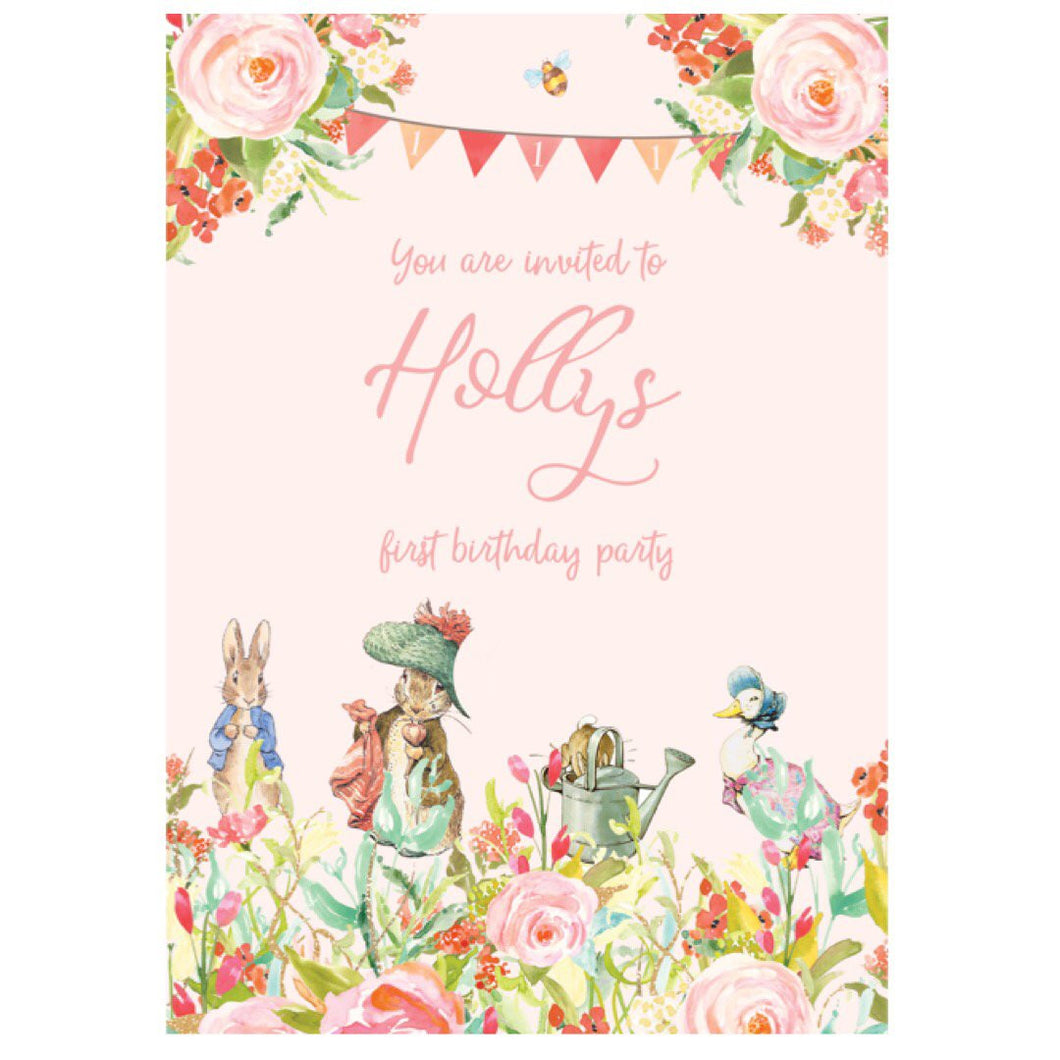 Beatrix Potter birthday invitation
