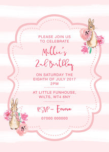 Floppsy Bunny invitation