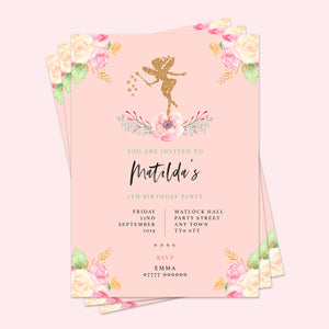 Fairy Children's Birthday Invitations