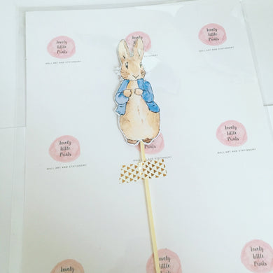 Cake topper - Peter Rabbit
