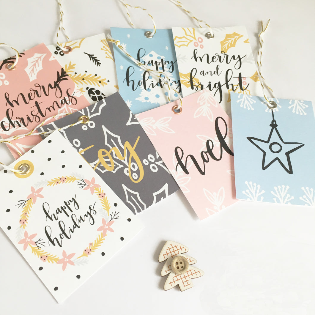 Luxury gift tags with eyelets