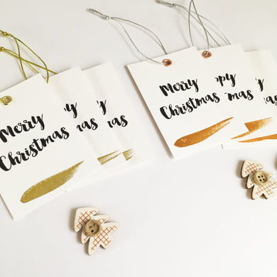 Luxury metallic eyelet gift tags