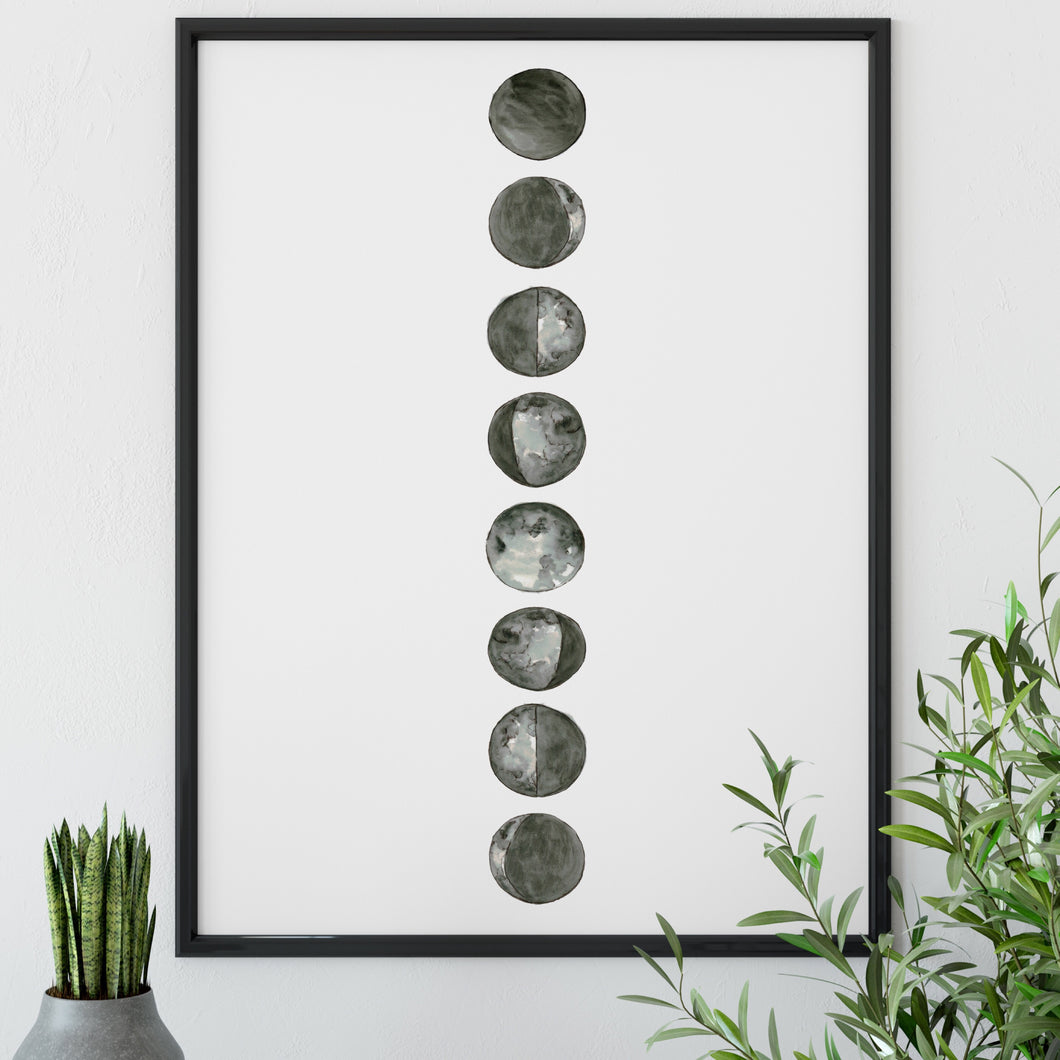 Moon phases print
