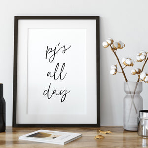 Pj's all day print