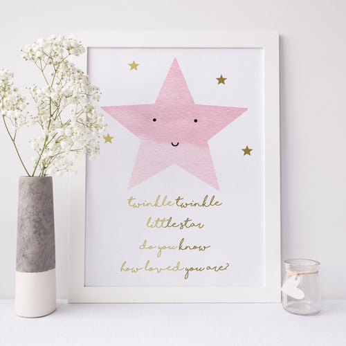 Star print -  twinkle twinkle little star do you know how loved you are?
