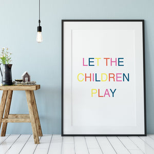 Let children play print