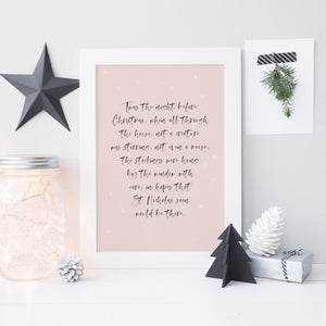 Twas the night before Christmas print