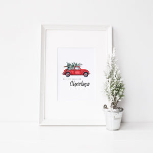 Driving home for Christmas print