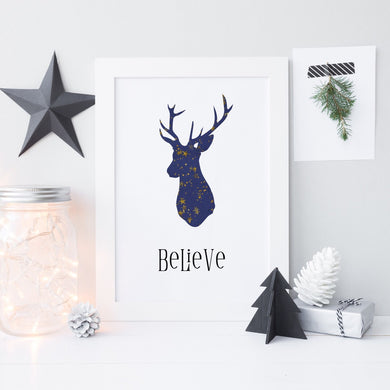 Believe Christmas print