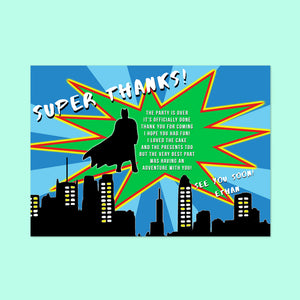 Children's Superhero Thank You cards