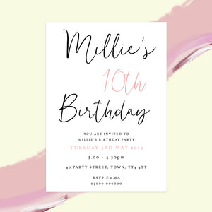 Modern Children's Birthday Invitations