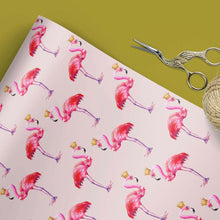 Flamingo with crown gift wrap