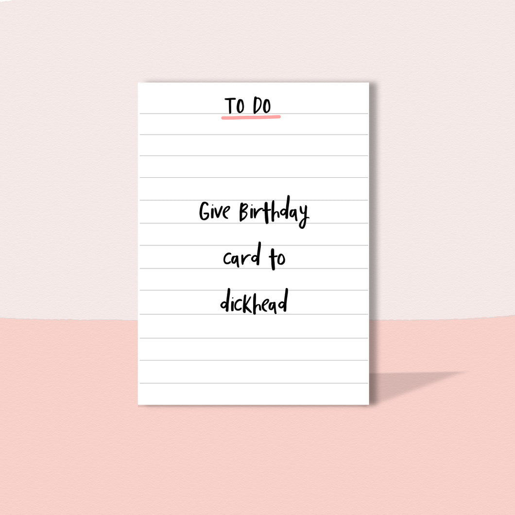 To do Birthday card