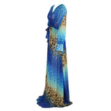Blue Leopard Maxi Dress