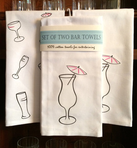 Set of Two Bar Towels - Featuring the Daiquiri
