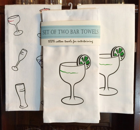 Set of Two Bar Towels - Featuring The Margarita