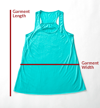 JÍBARO SPIRITED TANK TOP SIZING CHART