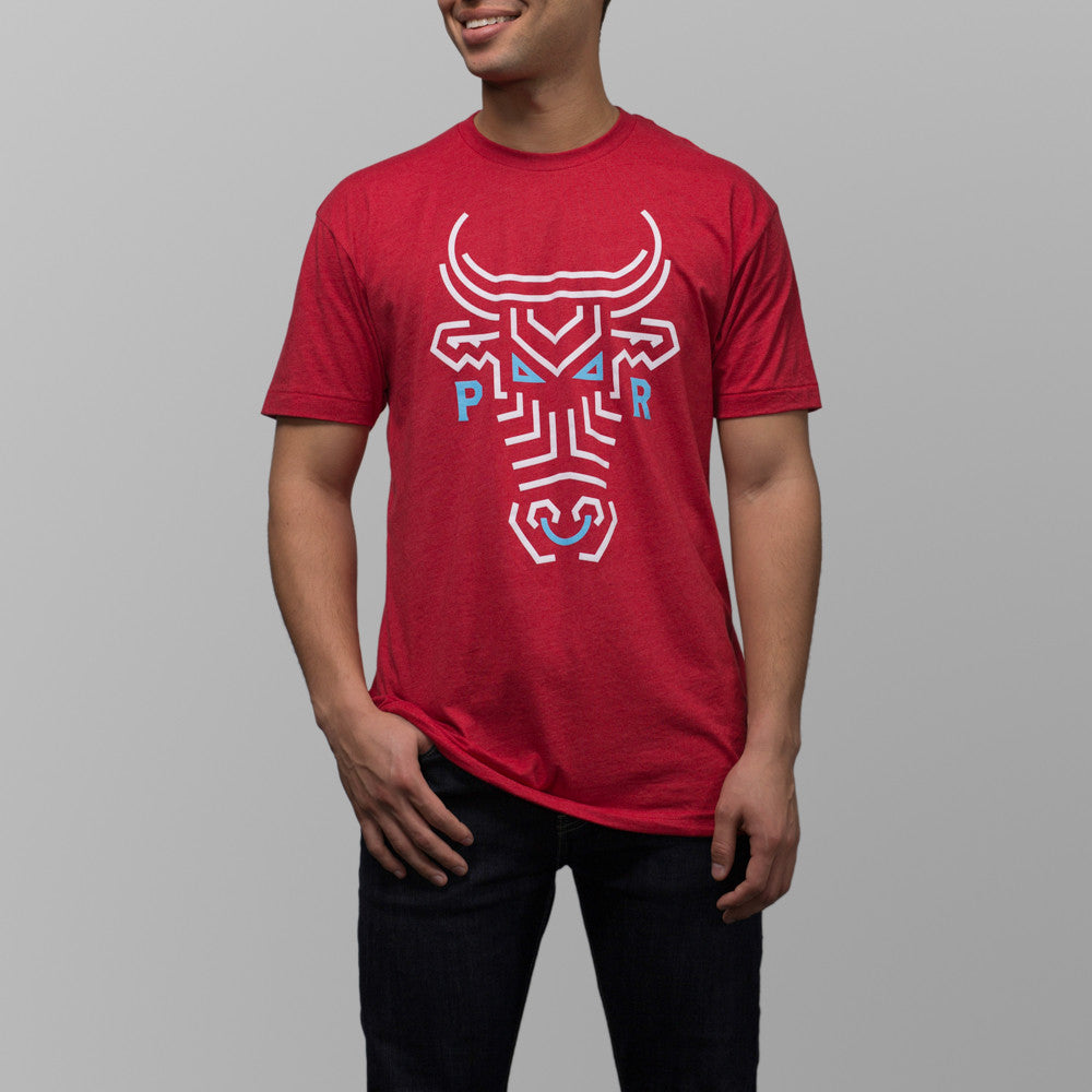 jibaro t-shirt puerto rico male ox red front